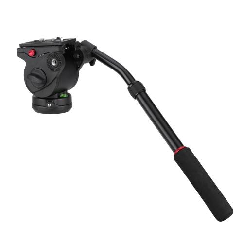 Poignée Photographie DSLR pan caméra vidéo fluide inclinaison tête d'amortissement plaque de libération rapide pour Nikon Canon Sony trépied monopode curseur