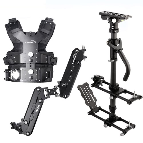 LAING M30PⅡ calidad profesional aluminio aleación Steadicam estabilizador Kit para cámara de vídeo de carga capacidad 4.5 kg - 15 kg