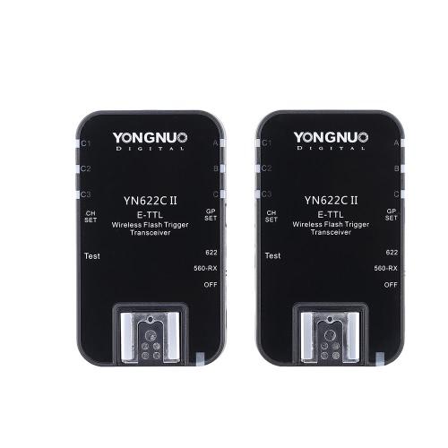 YONGNUO YN622C II 2.4G 無線 E-TTL フラッシュ トリガー 受信機 送信機 トランシーバ Canon EOS 5D Mark II 7D 70D 60D 50D 40D 450D適用