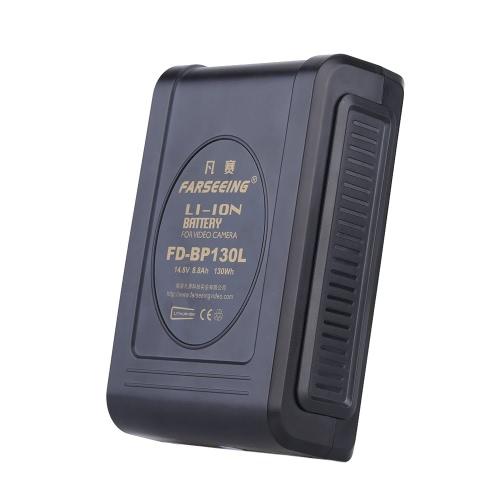 PRÊTÂT FD-BP130L 14.8V 8.8Ah la serrure 130Wh Rechargeable Li-ion batterie V-Mount pour caméra vidéo Compatible pour Sony BP-L40 L60 L90 batterie