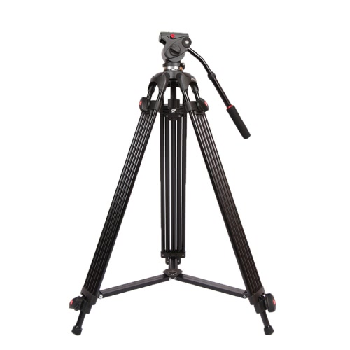 Andoer JY0508B 1.8m Foldable Telescoping Aluminum Alloy DSLR Camera Camcorder Video Tripod with Fluid Drag Head Padded Bag