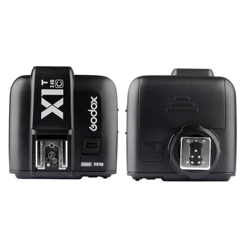 GODOX X1T-C TTL 1/8000s HSS 32 Channels 2.4G Wireless LCD Flash Trigger Transmitter for Canon EOS Cameras Godox TT685C Speedlite X1R-C Receiver
