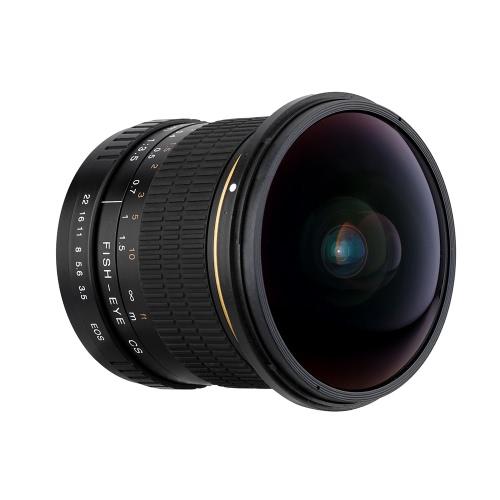 Kelda 8mm f/3.5 170° Ultra Wide Fisheye Aspherical Circular Lens for Canon EOS DSLR Cameras--Full Frame Compatible