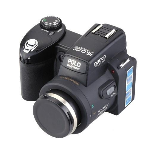 """Zweite Hand HD-Digitalkamera-Fotos 16MP 3.0 """"LTPS-Bildschirm Appareil Photo Reflex 16-fach Teleobjektiv-Weitwinkelobjektiv"""