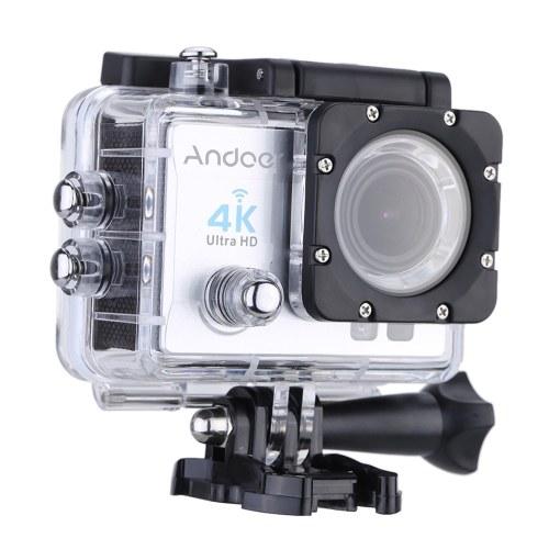 """Andoer 2 """"LCD ultra-HD 4K 25FPS 1080P 60FPS Caméra Wifi Sortie vidéo FPV Caméra d'action 16MP Objectif grand angle 170 ° avec boîtier de plongée étanche de 30 mètres"""