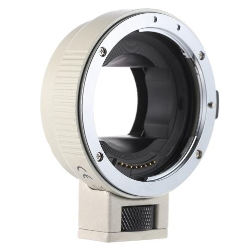 Adaptateur AF EF-NEXII AF Andoer Auto Focus pour objectif EF EF-S de Canon à utiliser avec le bâti Sony NEX E 3 / 3N / 5N / 5R / 7 / A7R / A7S / A5000 / A5100 / A6000 plein cadre