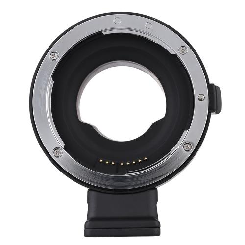 Second Hand Andoer EF-MFT Электронный апертурный адаптер для объектива для Canon EF и EF-S для использования в Olympus PEN E-P1 P2 / 3/5 E-PL1 OM-D E-M5 Panasonic LUMIX GH2 / 3/4 M4 / 3 камеры