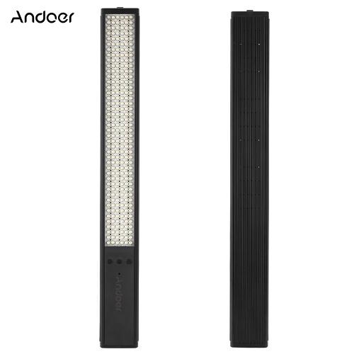 Andoer aus zweiter Hand TD-JY258 258 LED-Handheld-Rohr aus Aluminiumlegierung Magic Tube Light 9 Helligkeitsstufen einstellbar mit integriertem 3600-mAh-Akku 3 Farbfilter für Fotografie und Videografie