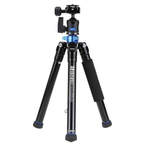 スマートフォンミラーレスカメラDSLRカメラのための秒針Beno IS05ポータブル軽量アルミ合金三脚キットセンターコラムにセルフスティックに回すことができます