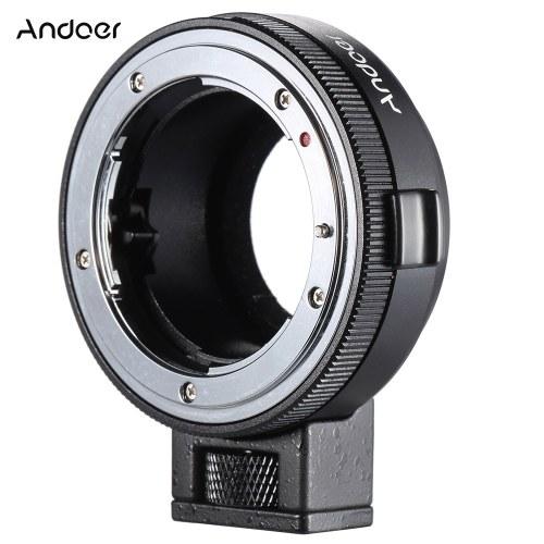 Adaptateur de montage Andoer NF-MFT NF-M4 / 3 avec cadran d'ouverture pour objectif type Nikon G / DX / F / AI / S / D sur monture M4 / 3, comme pour Olympus Panosoic GH4 BMPCC