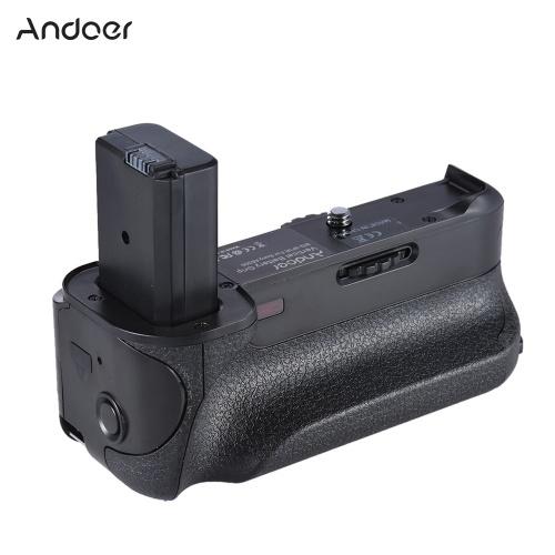 Andoer BG-3FIR Vertikaler Batteriegriff aus zweiter Hand IR-Infrarot-Fernbedienung mit Micro-USB-Ladeanschluss Kompatibel mit 2 * NP-FW50-Akku für die Sony A6300 / A6500 ILDC Mirroless-Kamera
