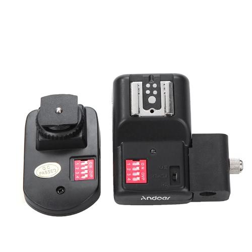 Andoer 16 チャンネルのワイヤレス リモート スピード ライト フラッシュ傘穴/ホルダーとラジオトリガーします。
