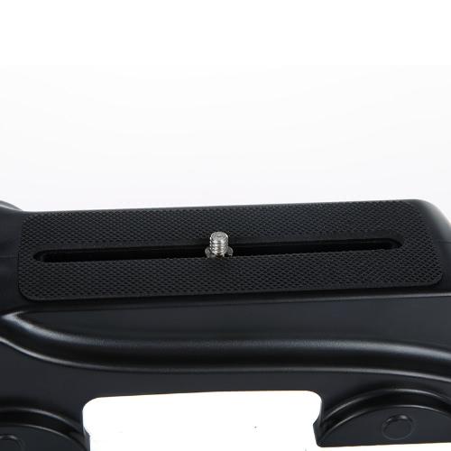 Stile ruota staffa maniglia dei palmari stabilizzatore Grip per DSLR fotocamera reflex Mini DV Camcorder