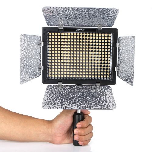 II Yongnuo YN-300 LED caméra vidéo couleur réglable légère température 3200k - 5500k pour reflex Canon Nikon avec télécommande IR