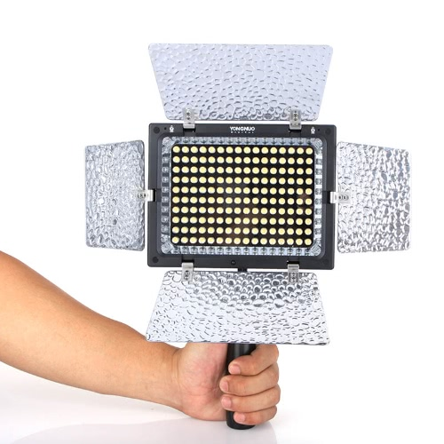 Yongnuo YN 160 II LED Videoleuchte Lampe mit Kondensator Mikrofon für Canon Nikon Pentax Kamera DV Camcorder + Fernbedienung