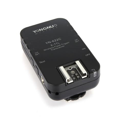 Seconda mano Yongnuo YN-622C Wireless TTL Flash Trigger Transeiver per Canon 7D 5DII 5DIII 1DIV 1DIII 5D 2.4GHz 1 / 8000s