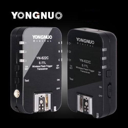 Yongnuo YN-622C Wireless TTL Flash Trigger Transeiver for Canon 7D 5DII 5DIII 1DIV 1DIII 5D 2.4GHz 1/8000s