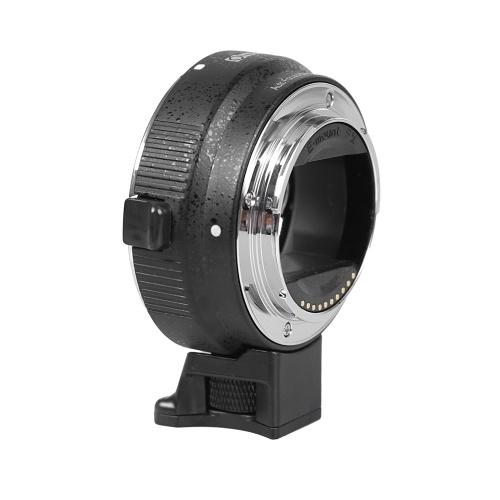 Autofokus EF-NEX EF-EMOUNT FX-Objektivbefestigungsadapter aus zweiter Hand für Canon EF EF-S-Objektiv an Sony E-Mount NEX 3 / 3N / 5N / 5R / 7 / A7 A7R AR7II Vollformat Schwarz