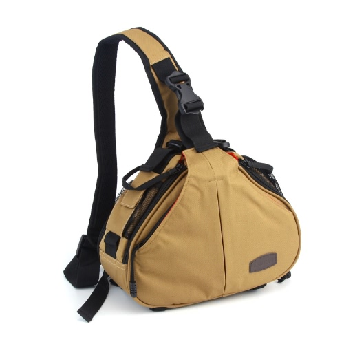 Caden K1 Wodoodporna Fashion Casual DSLR Camera Case torba Messenger Shoulder Bag Canon Nikon Sony Khaki