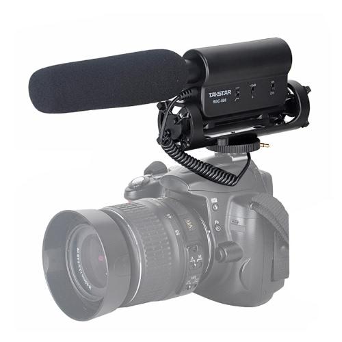 Microphone condensateur photographie Interview enregistrement pour Canon Nikon appareil photo reflex numérique DV SGC-598