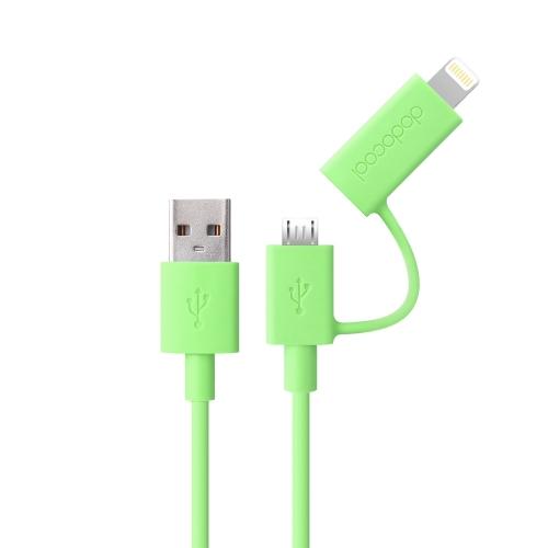 dodocool アップル認定 2-1 で雷 8 ピン + 5 c 6 5 5 s の iPhone のためのマイクロ USB 充電/同期ケーブル三星 HTC LG スマート フォン タブレット グリーン