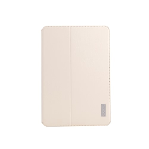 dodocool 360 Degree Rotating PU Leather Swivel Flip Stand Case Cover Protective Shell for iPad mini with Retina display Beige