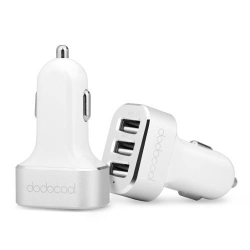 Dodocool MFi Apple Certified High Speed ​​3-portowa ładowarka USB Car Charger z 33W 6.6A dla Apple Samsung