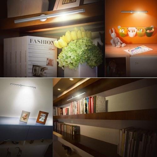 Segunda mano dodocool 5W desmontable portátil regulable 20 LED Lámpara de escritorio Luz de lectura Control táctil sensible con base magnética Recargable 4500K Frío Blanco Plata