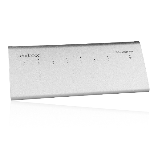 dodocool 7-Port USB 3.0 HUB for iMac Macbook Superspeed 5Gbps External AC Adapter
