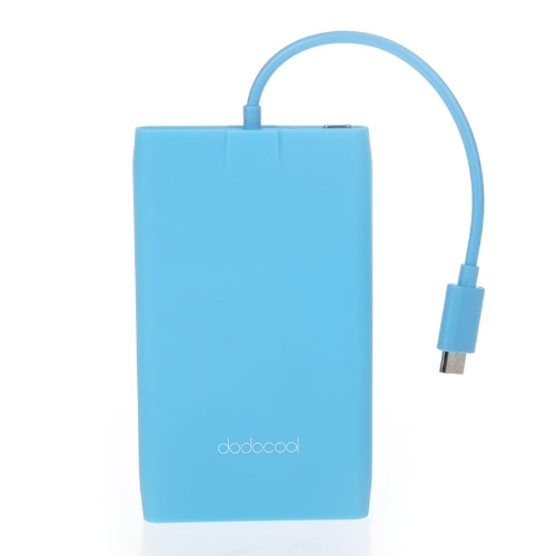 Patented dodocool Ultrathin 3000mAh Power Bank Portable Backup Charger for Samsung HTC iPhone Blue фото
