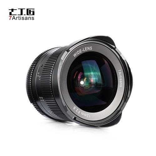 7artisans 12mm f / 2.8 Lente Ultra Grande Angular Prime Foco Manual Grande Abertura