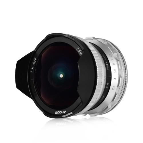 Andoer 7.5mm F2.8 Manual Focus Fisheye Lens 180° Ultra Wide Angle Large Aperture E-Mount Lens