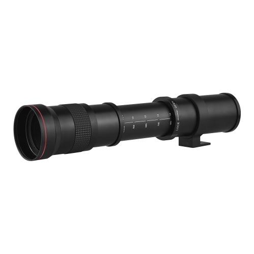 Teleobjektiv-Objektiv mit manuellem Zoom 420-800 mm, 8,3-16 T-Mount mit EF / EF-S-Adapterring für Canon EOS 80D / 70D / 60D / 7D / 6D / 5DII / 5DIII / 5DIV / 800D / 750/760 700/650/600/550 / T7i / T7 / T7 / T6 / T6i / T6 / T5i / T5 / T4i / T3i / T3 / T2i DSLR-Kameras