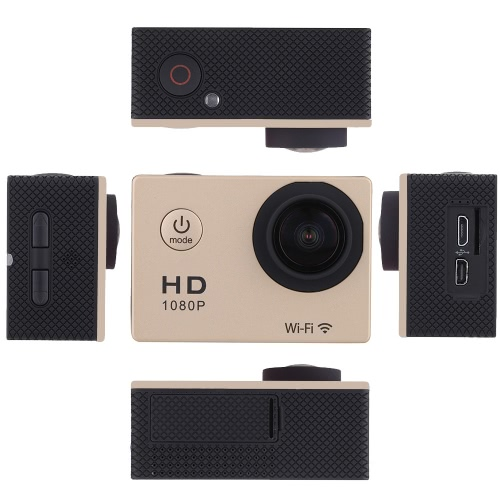 W8 1080P 30FPS 12MP Wifi Waterproof 30M Shockproof 170° Wide Angle 1.5 Screen Outdoor Action Sports