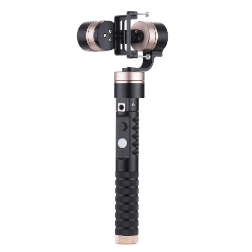 3軸ハンドヘルドジンバルブラシレスアクションカメラジーロスタビライザーfor GoProヒーロー4/3 + / 3類似のサイズのXiaoyiアクションカメラ用