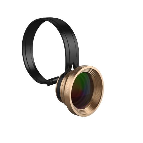 dodocool uniwersalna 3-in-1 Clip-On 180 ° Fisheye + 0.67X Szeroki kąt + 10x obiektyw makro Kit dla iPhone Samsung LG i Inne Android Smartphones złota