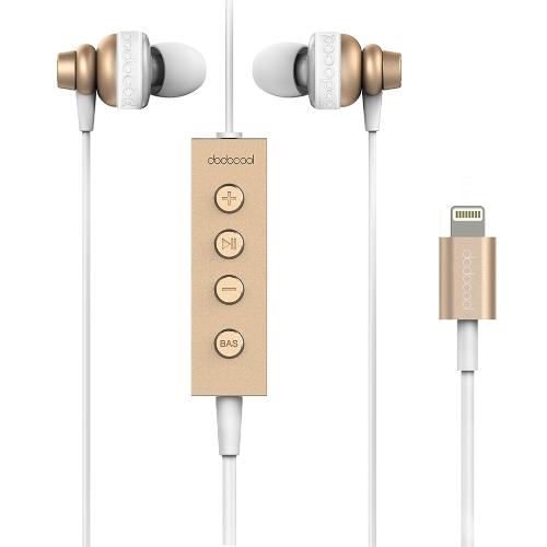 dodocool MFi Certified Hi-Res In-ear écouteurs stéréo avec la foudre Connecteur télécommande et micro - 24 bits haute résolution audio pour les appareils de foudre d'or