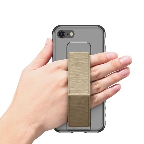 dodocool Ultra Slim Crystal Case protetora transparente com dobrável Kickstand aperto Titular antiderrapante absorção de choque Scratch Resistant cobrir escudo para o iPhone 7 Gold 4,7 polegadas