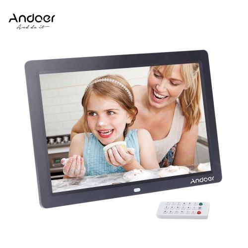 """Andoer 12 """"HD TFT-LCD 1280 * 800 Plein-vue Cadre photo numérique Réveil MP3 MP4 Movie Player avec Remote Desktop"""