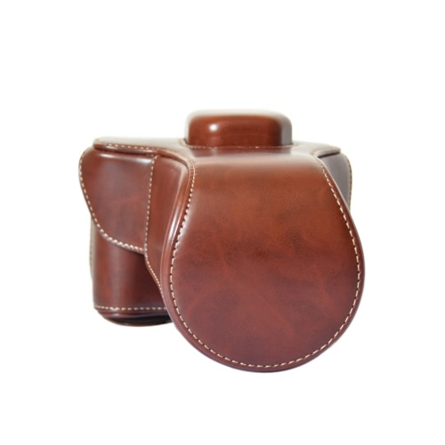High Quality Crazy-horse Leather Camera Case Bag with Shoulder Strap for Fujifilm Fuji XT10 X-T10 only