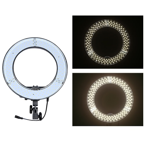 RL-12 180pcs Ring LED Panel Beads Lamp Lights CRI 83+ Color Temperature 5500K Studio Outdoor Video Camera   Photography Lighting Kit