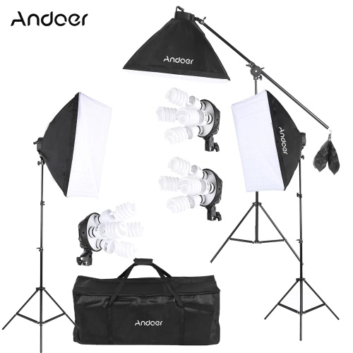 Andoer Studio Photo Kit de iluminación para video