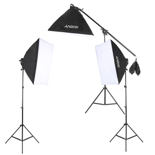 Andoer Studio Foto Video Beleuchtung Kit Set