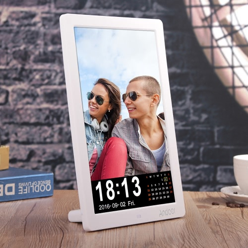 "Andoer 12 ""LED HD Cyfrowa ramka na zdjęcie 1280 * 800 Ramka na biurko Obsługa MP3 / MP4 / E-book / Kalendarz / Budzik Funkcja z pilotem Christmas Gift"