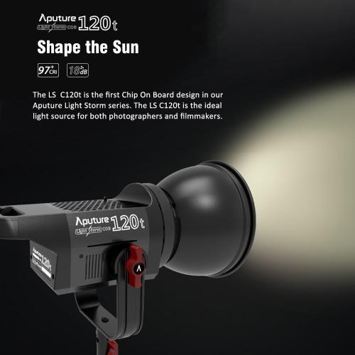 Aputure Światło Burza COB 120t CRI97 + 135W LED 3000K Lampa wideo Portable Ciągłe Photography Studio Lokalizacja Light Bowens Górze i V-Mount Plate