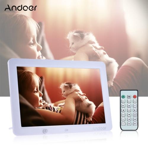 Andoer 12 calowy LED Ramka cyfrowa 1280 * 800 Human Motion Detection indukcyjna z Pomoc Remote Control MP3 / MP4 / Kalendarz / funkcja budzika Christmas Gift