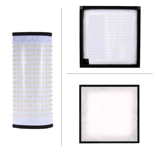 Travor FL-3030A LED 48W CRI90 + 256 Koraliki Max.4500LM 3200K-5500K Elastyczne Cloth Roll-up Handheld LED Wideo Fotografia Film Fill-In Light Panelu ze zdalnym sterowaniem
