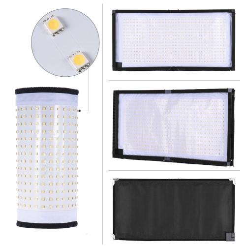 Travor FL-3060 LED 5500K CRI90 + 85W Max.8000LM Elastyczne Cloth Roll-up Handheld LED Wideo Fotografia Film Fill-In Light Panelu ze wsparciem zdalnego sterowania 4 grupach