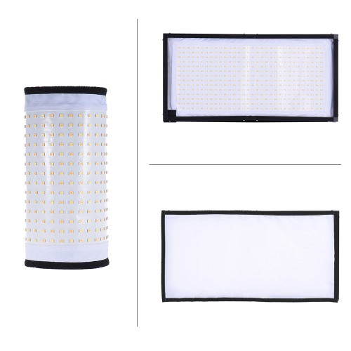Travor FL-3060A LED Light Dual Color Temperature 3200K-5500K CRI90+ 85W Max.8000LM Flexible Cloth Roll-up Handheld LED Video Photography Film Fill-in Light Panel with Remote Control, TOMTOP  - buy with discount