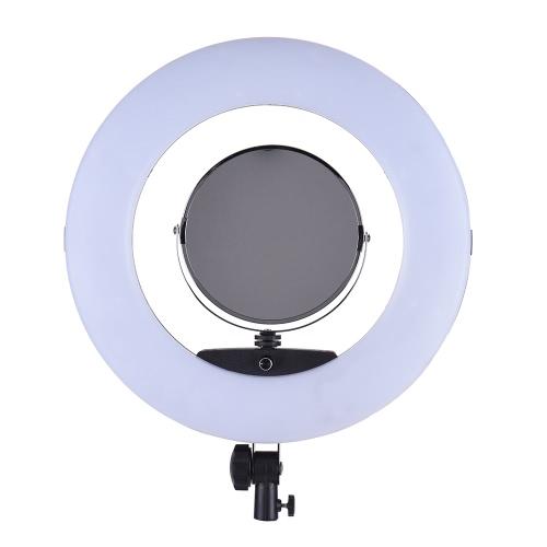 """FD-480II 17,7 """"/ 45 cm 96 W Dimmable Bi-Color 3200-5500K Makro LED Video Ring Lampa świetlna z wyświetlaczem LCD Lustro do makijażu Uchwyt do smartfonów dla Canon Nikon Sony Kamera fotograficzna Kamera fotograficzna Live Broadcast Telecast Salon piękności"""